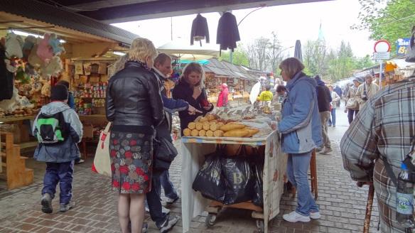 Oscypek market in Zakopane、
