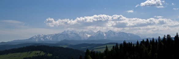 Panoramic view of Tatras from the Polish side