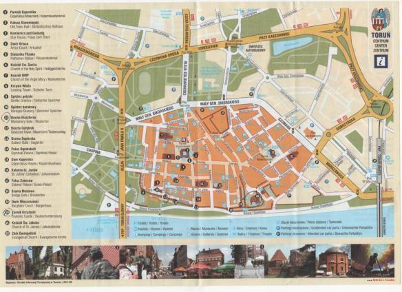 Torun City Map
