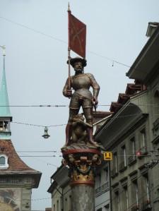 (Schutzenbrunnen, Fountain of the Archer  or Masketma )