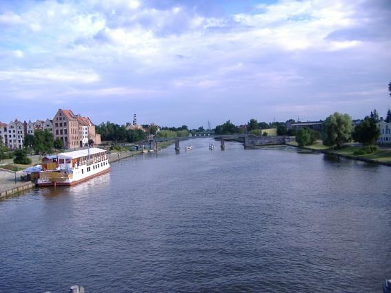 Elbląg River today