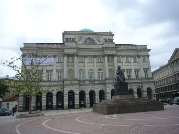 Society Scientism Warsaw and Copernicus Monument,