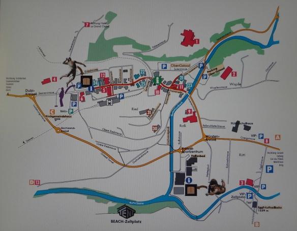 Gstaad Town Map Switzerland