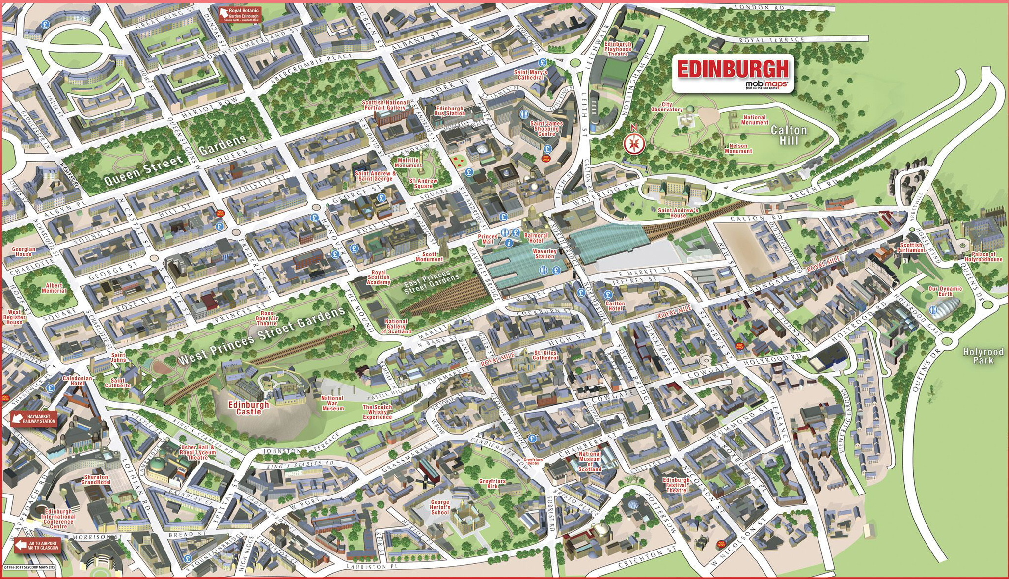 Edinburgh Scotland – Edinburgh Tourist Map