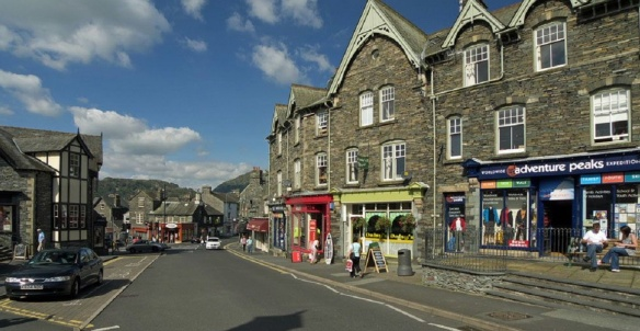 Market Cross between Rydal Road and Market Place in Ambleside.