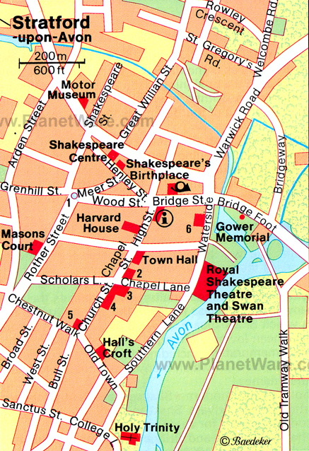 StratforduponAvon Map weepingredorger