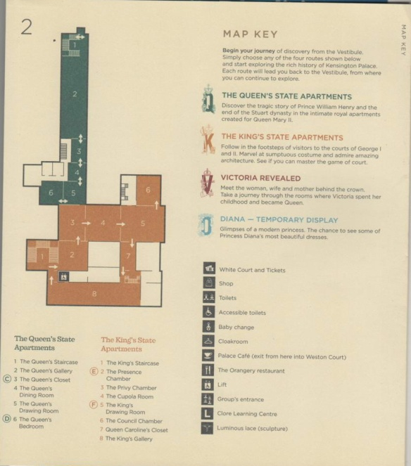 Kensington Palace floor map 2nd.