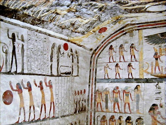Wall paintings in the tomb of the Ramesses Ⅳ