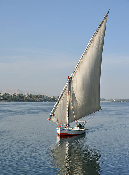 This is a sailing boat, felucca.
