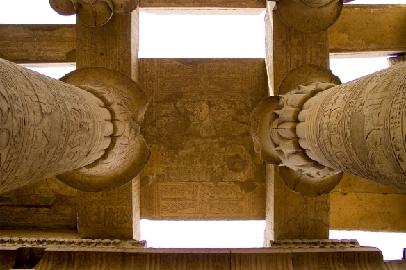 Columns and ceiling in the Hypostyle Hall.