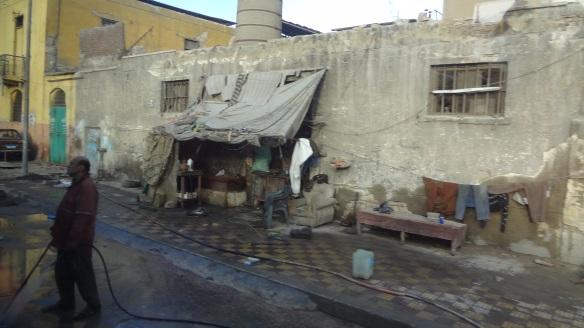 Messy street of Alexandria