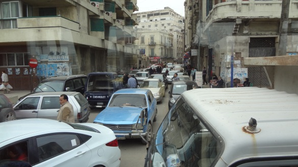 Illegal parking cars in front of the court on El-Gaish Rord