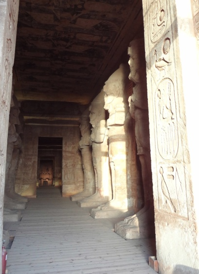 The morning sunlight is getting into the main hall of the temple.