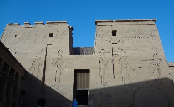 Egyptian Mythical Reliefs on the Pylon