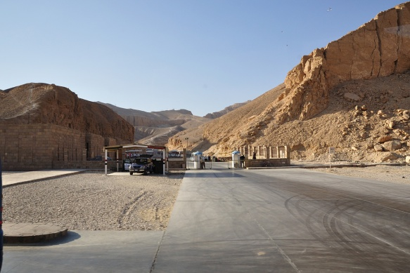 The entrance of Valley of the Kings