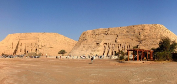 Abu Simbel temples, the left is The Great Temple and the right is the Small Temple.