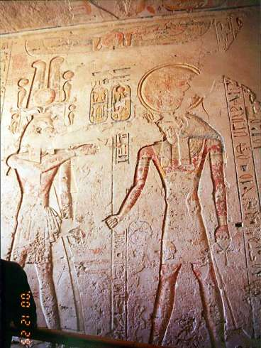 The relief in the tomb of the Ramses Ⅳ.
