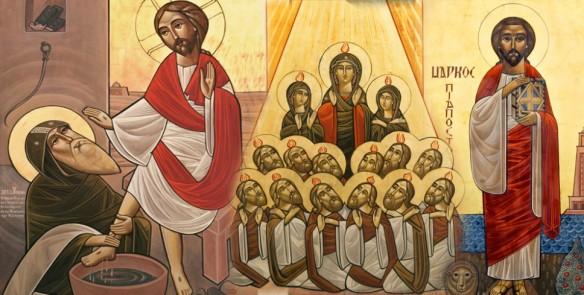Jesus and St. Pishoy