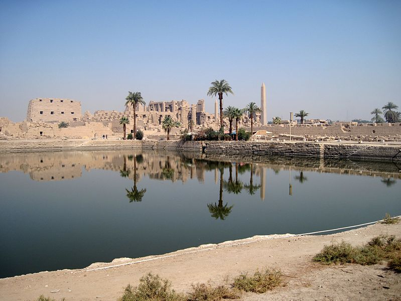 Karnak Temple And Luxor Temple In Thebes, Egypt