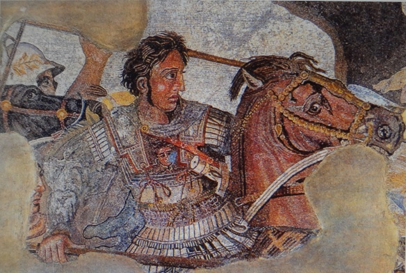 Alexander fighting the Persian king Darius III.