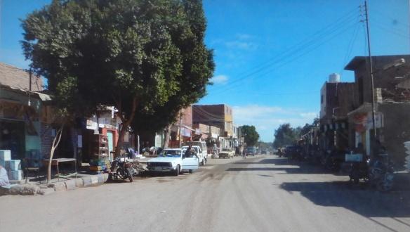 Scenery of Bawiti Town in Bahariyya Oasis.