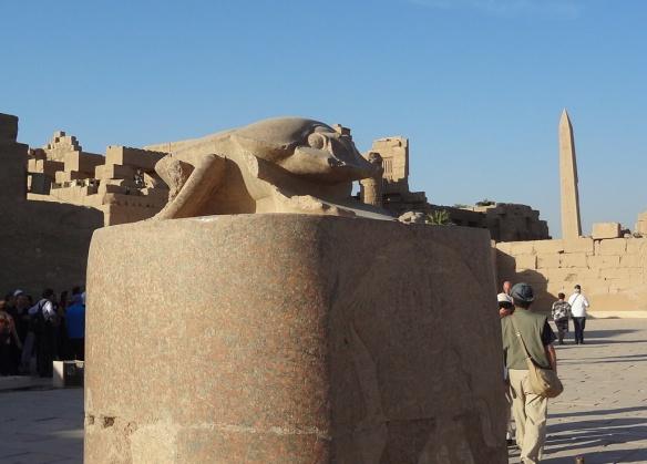 Scarab Statue of Karnak Temple