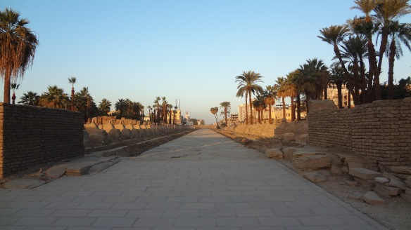 The way to Luxor Temple