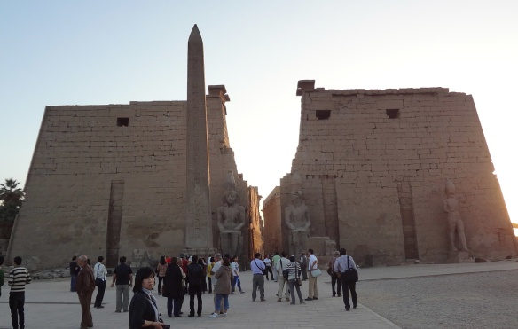 Entrance of Luxor Temple, First Pylon and Obelisk