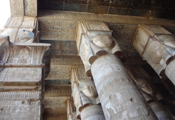 Recently cleaned ceiling of the Temple of Hathor