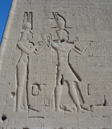 Reliefs of Cleopatra VII and her son by Julius Caesar, Caesarion at the Dendera Temple