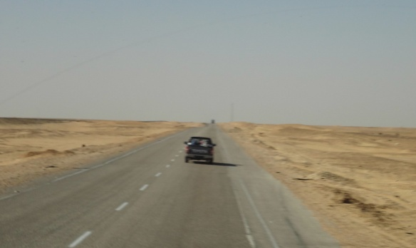 The road towards the Western Desert.