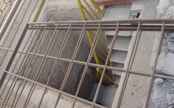 Iron ladder of the shaft.