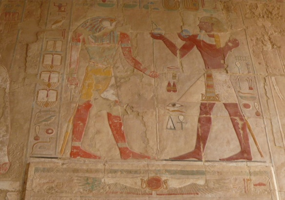 Wall painting, the Mortuary Temple of Queen Hatshepsut