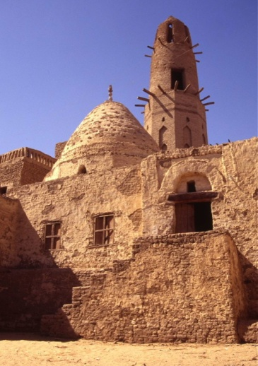 A traditional mosque made from sun dried brick at Bahariyya Oasis,