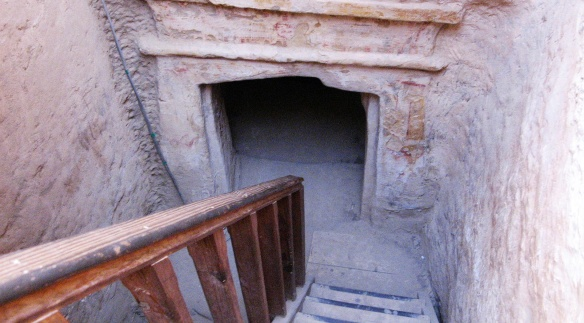 The entrance of the tomb