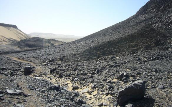 Black gorge of the desert.