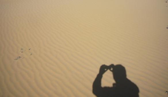 Taking some photographs of the desert