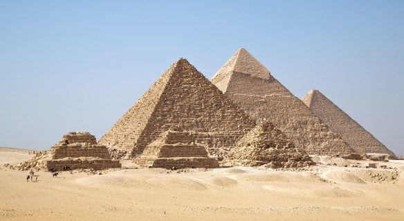 Pyramids of Giza which anyone knows.