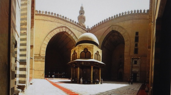 The courtyard of the Sultan Hassan Mosque in Cairo