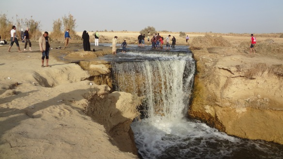 Egypt's only waterfall.