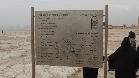 The Signboard of  Great Pyramid of Pharaoh Khufu.