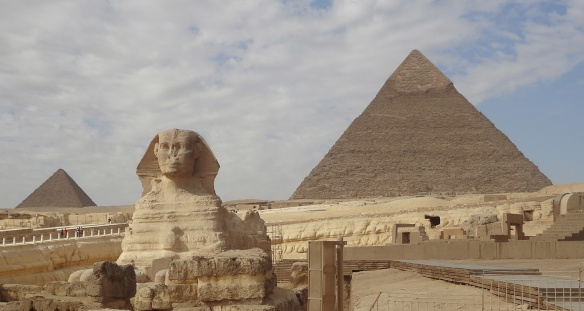 Pyramid of  Khafra and the Grand Sphinx