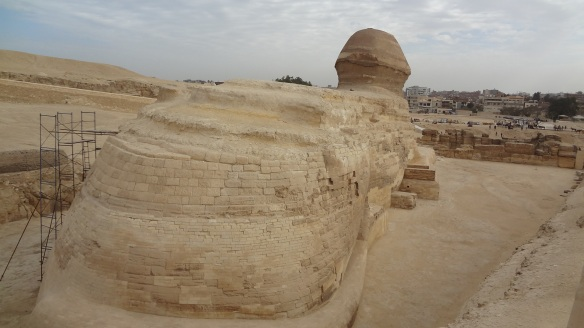 The back of the huge Sphinx.