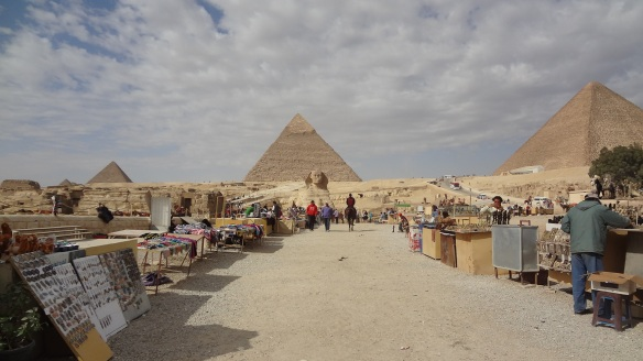 Souvenir stalls in front of the Sphinx