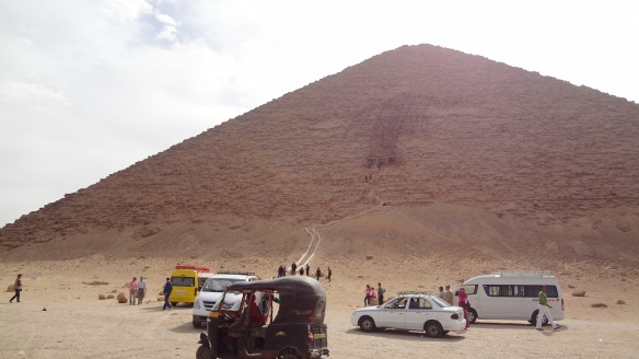 Red Pyramid, the center of this pyramid is the entrance.