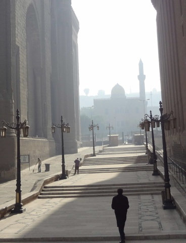 Silhouette of Sultan Hassan Mosque.