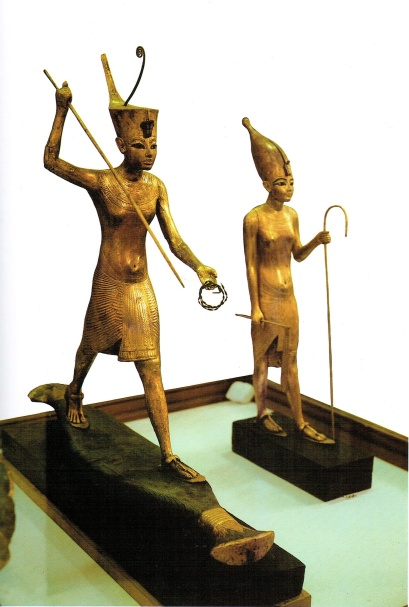 Golden Statuettes of the Pharaoh