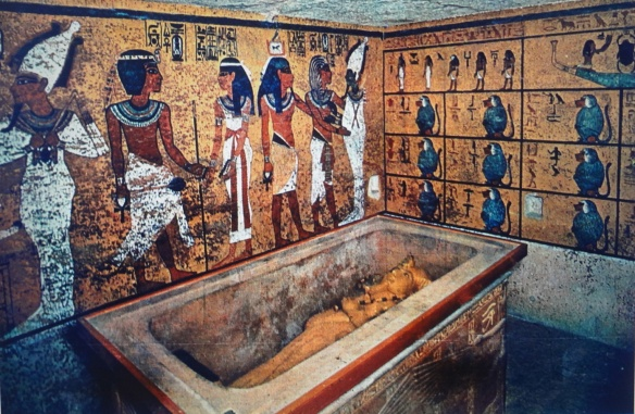 Valley of the Kings - Tutankhamon's tomb: the first sarcophagus.