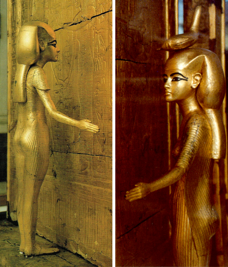Goddess Isis and Goddess Selkihet