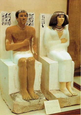 The married couple of statue, Rahotep and Nofret